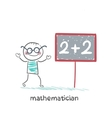 mathematician wrote in pencil task vector image vector image