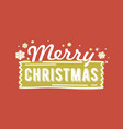 merry christmas lettering written with elegant vector image