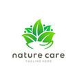 nature care leaf logo and icon design vector image vector image