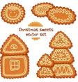 Ornate Christmas sweets set vector image vector image