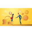 partnership concept business people buy and sell vector image