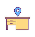 personal physical workspace rgb color icon vector image