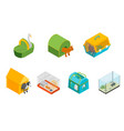 pet carriers signs 3d icons set isometric view vector image