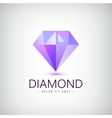 purple diamond icon logo isolated Fashion vector image