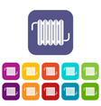 radiator icons set flat vector image vector image