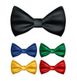 realistic bow tie 3d vector image