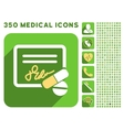Receipt and Pills Icon and Medical Longshadow Icon vector image vector image
