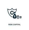 risk capital icon creative element design from vector image