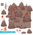 rocks and volcanoes set vector image