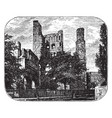 ruins of kelso abbey vintage vector image vector image