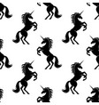 seamless pattern with black unicorns vector image vector image