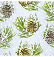 seamless texture christmas golden pine cone vector image vector image