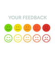 set faces scale feedback - isolated vector image vector image