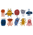 set funny funky monsters vector image vector image