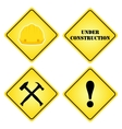 Set of signs under construction Flat style for vector image vector image