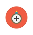 stylish icon in circle vintage tourist compass vector image vector image