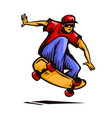 stylish young skater vector image vector image