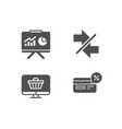 synchronize web shop and presentation icons vector image