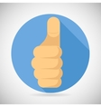 Thumbs up Hand Palm Pointing Finger Like Icon vector image
