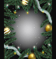 transparent christmas background realistic vector image