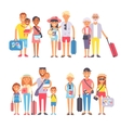 Traveling family group people on vacation together vector image vector image