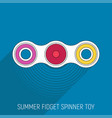 Two blades fidget spinner toy in flat style vector image