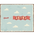 Vintage typography Background vector image vector image