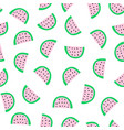 watermelon slices seamless pattern watermelons vector image vector image