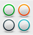 white user interface buttons set vector image vector image