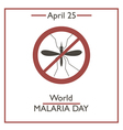 World Malaria Day vector image vector image