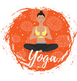 yoga training in flat style vector image vector image