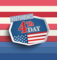 The fourth of July vector image