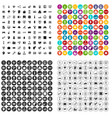 100 web development icons set variant vector image vector image