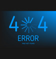 404 error not found page with download vector image vector image