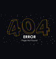 404 error page not found line vector image vector image