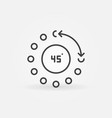 45 degrees angle concept icon in thin line vector image vector image