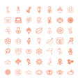 49 floral icons vector image vector image