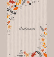 abstract flat autumn leaves frame vector image