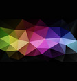 abstract rainbow polygonal background vector image