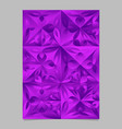abstract violet mosaic floral pattern template vector image vector image