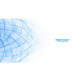 abstract white background with blue lines mesh vector image vector image