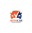 auto car logo with checkmark vector image