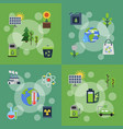 banners set with ecology vector image vector image