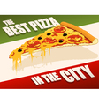 Best pizza in city vector image vector image