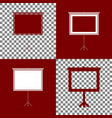blank projection screen bordo and white vector image vector image
