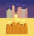 Boston flat building city vector image