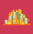 burning pile money vector image vector image