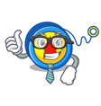 businessman yoyo character cartoon style vector image vector image
