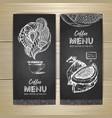 chalk drawing coffee menu design vector image vector image
