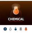 Chemical icon in different style vector image
